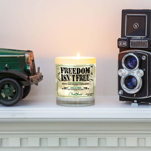 Freedom Isn't Free Mantle Candle