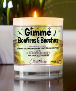 Gimme Bonfires and Beaches Table Candle