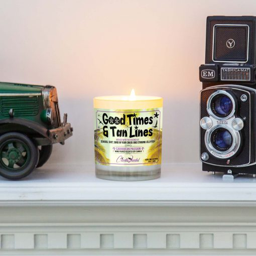 Good Times and Tan lInes Mantle Candle