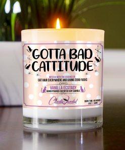 Gotta Bad Cattitude Table Candle