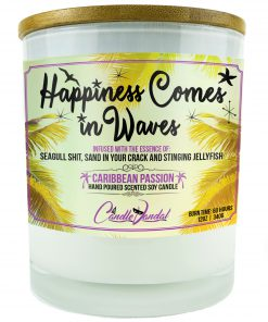 Happiness Comes in Waves Candle