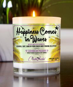 Happiness Comes in Waves Table Candle
