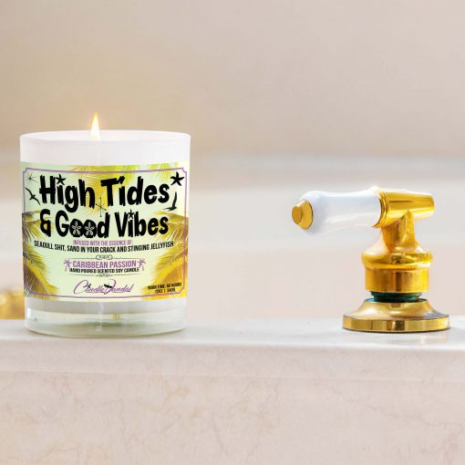 High Tides and Good Vibes Bathtub Candle