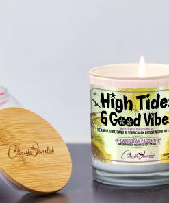 High Tides and Good Vibes Lid and Candle