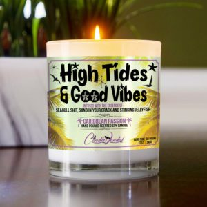 High Tides and Good Vibes Table Candle