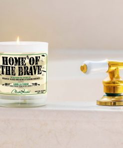 Home of the Brave Bathtub Candle
