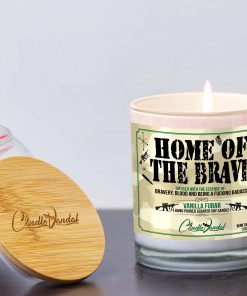 Home of the Brave Lid and Candle