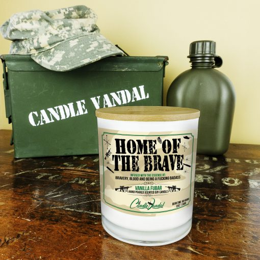 Home of the Brave Military Candle