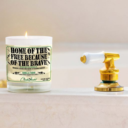 Home of the Free Because of the Brave Bathtub Candle