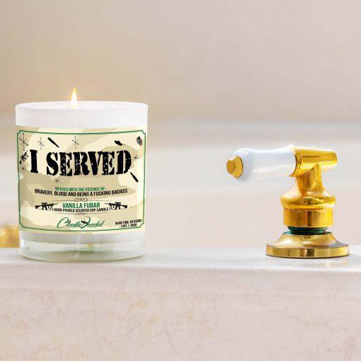 I Served Military Bathtub Candle