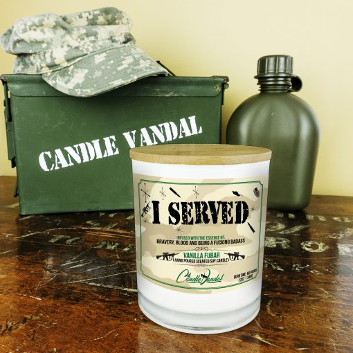 I Served Military Candle