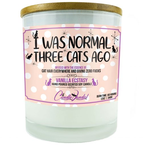 I Was Normal Three Cats Ago Candle