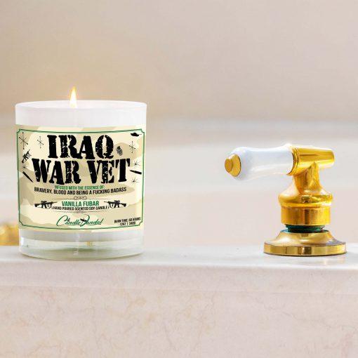 Iraq War Veteran Bathtub Candle