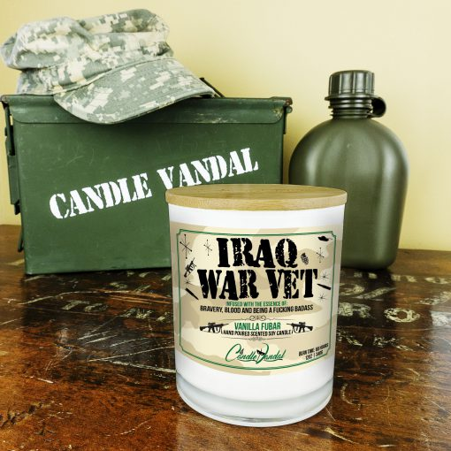 Iraq War Vet Military Candle