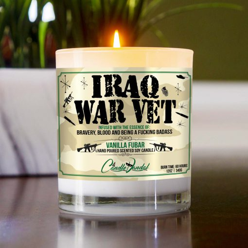 Iraq War Veteran Table Candle