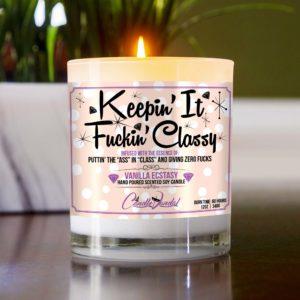Keepin' It Fuckin' Classy Table Candle