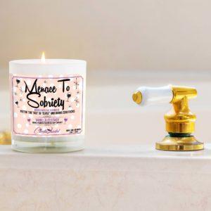 Menace to Sobriety Bathtub Candle