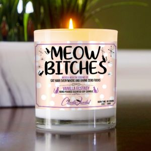 Meow Bitches Table Candle