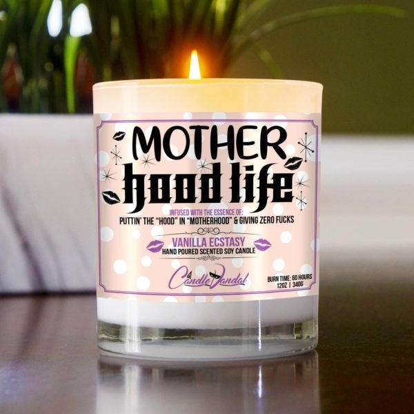 Mother Hood Life Table Candle