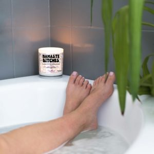 Namaste Bitches Bathtub Candle