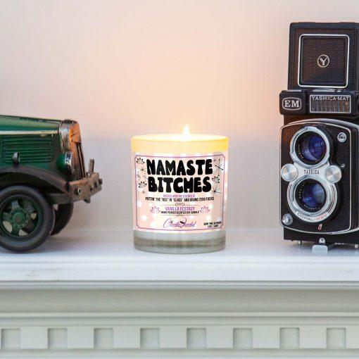 Namaste Bitches Mantle Candle