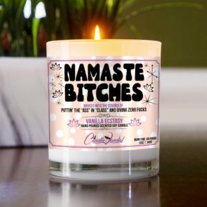 Namaste Bitches Table Candle