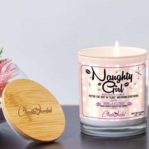 Naughty Girl Lid and Candle