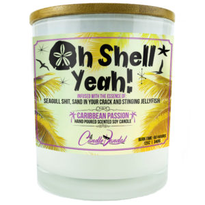 Oh Shell Yeah Candle