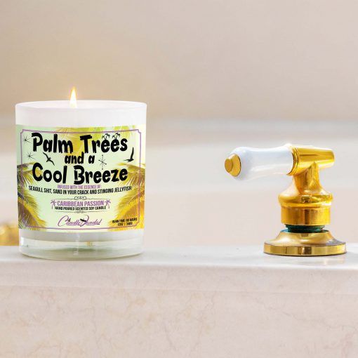 Palm Trees and a Cool Breeze Bathtub Candle