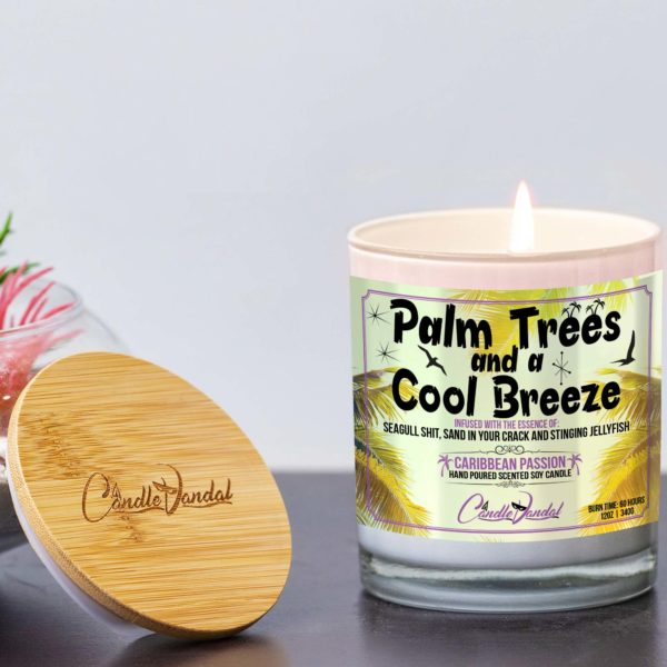 Palm Trees and a Cool Breeze Lid and Candle