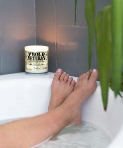 Proud Veteran Bathtub Candle