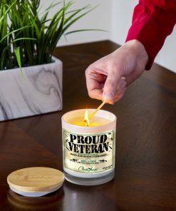 Proud Veteran Lightng Candle