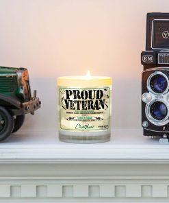 Proud Veteran Mantle Candle