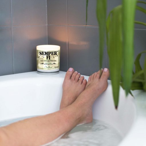 Semper Fi Bathtub Candle