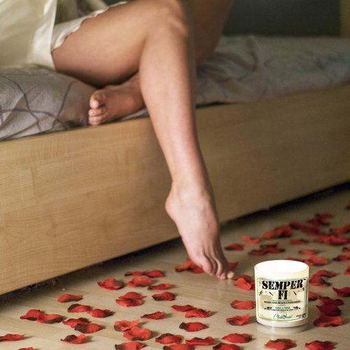 Semper Fi Bed Candle