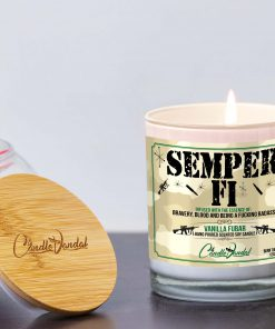 Semper Fi Candle and Lid