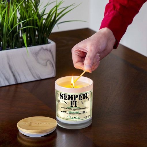 Semper Fi Lighting Candle