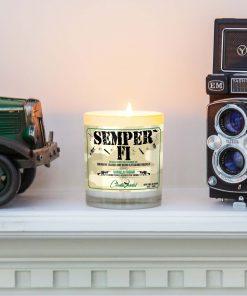 Semper Fi Mantle Candle