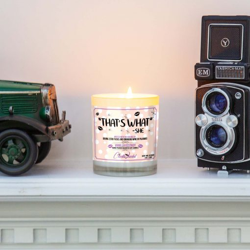 That's What She Said Mantle Candle