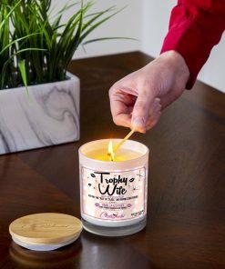 Trophy Wife Lighting Candle