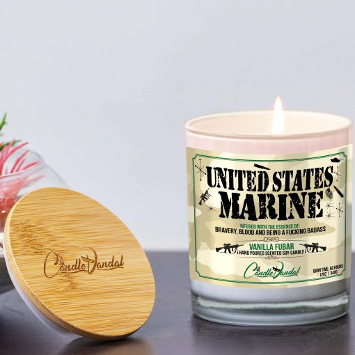 United States Mariine Candle and Lid