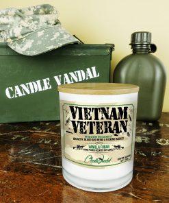Vietnam Veteran Military Candle