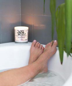 Wife Mom Boss Bathtub Candle