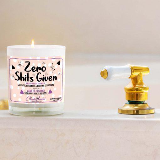 Zero Shits Given Bathtub Candle