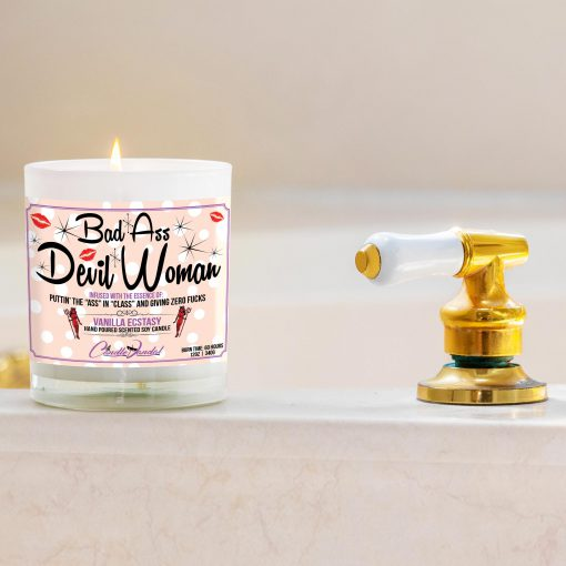 Bad Ass Devil Woman Bathtub Candle