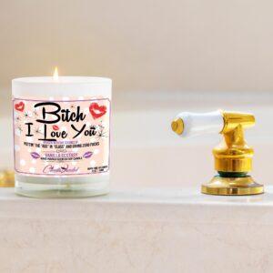 Bitch, I Love You Funny Bathtub Candle