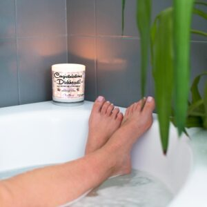 Congratulations Dickhead Funny Bathtub Candle