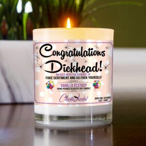 Congratulations Dickhead Funny Table Candle