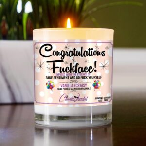 Congratulations Fuckface Candle