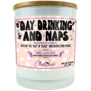 Day Drinking and Naps Funny Candle